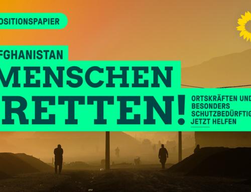 BÜNDNISGRÜNE verabschieden Positionspapier zur Situation schutzbedürftiger Menschen aus Afghanistan